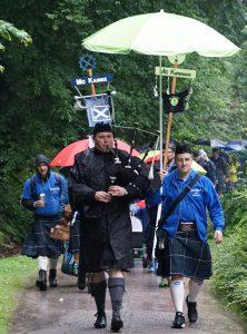 Dudelsackspieler Björn Frauendienst bei den Highland Games in Ennepetal